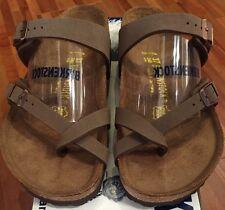 Birkenstock Mayari 071061 Size 39/L8M6 R Birkibuc  Mocha Sandals