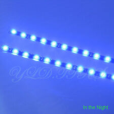 2x Blue 12 LEDs 30cm 5050 SMD LED Strip Light Flexible Waterproof 12V DIY Car