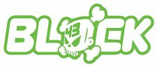 BLOCK Skull 43 - Ken Block Vinyl Cut Sticker Decals 150 x60mm - FREE UK DELIVERY