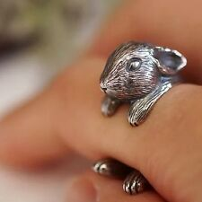 Netherland Dwarf Rabbit Bunny Wrap Around Ring