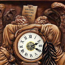 rms Titanic. Dramatic ART POSTER of the Grand Staircase Clock. White Star Line