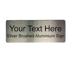 Custom Personalised Arial Your Text Metal Aluminium Sign Door Plaque Wall Office