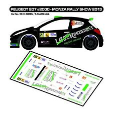 DECALS 1/43 PEUGEOT 207 S2000 - #58 -BREEN - MONZA RALLY SHOW 2013 - D43262