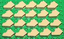 Lego Tan Slope 1x2 Inverted 20 pieces NEW!!!