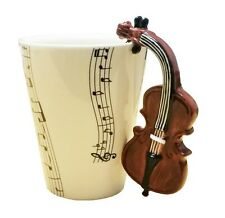 Blue Witch 3D Mug - Cello, Hand Crafted Ceramic Coffee Mug