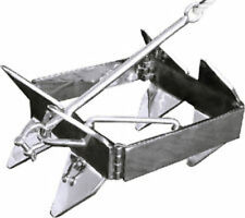 Slide SMALL Box Anchor 22x9x5 COMPACT FOLDABLE Up to 30' Boat SS/Galvanized OT