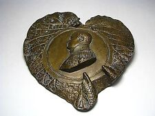 ANTIQUE BRONZE PLAQUE PICTURE Napoleon Bonaparte Emperor of France ca1800s Rare!