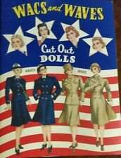 WACS AND WAVES Paper Doll Book Shackman EBAY BEST PRICE!  BRAND NEW!
