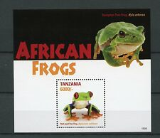 Tanzania 2015 MNH African Frogs 1v S/S Amphibians Red-Eyed Tree Frog