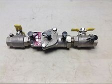 """New Watts SS007M3 3/4"""" Stainless Steel Double Check Valve SS007M3QT SS007M3QTDC"""