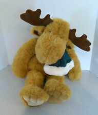 Golden Bear JCPenny Holiday Collection Large Plush Stuffed Moose With Scarf EUC