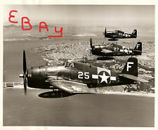 1950 USMC PHOTOGRAPH 8X10 SHOWS MARINE FIGHTERS OVER NAS OAKLAND 7.8.1950 LOOK