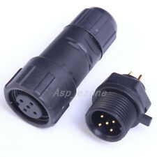 5-Pin Waterproof Panel Cable Connector Multipole Plug Socket IP68 500V 5A