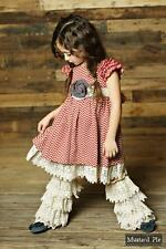 Mustard Pie Girl Delphine Party Dress 12 Crochet Ankle Flairs Leg Warmer Large
