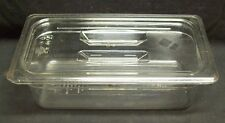 "Restaurant Equipment Bar Supplies CAMBRO 1/3 SIZE FOOD PAN WITH LID 4"" CLEAR"