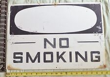 Vintage Salvage BIG DANGER No Smoking Metal Sign PROP Worn#2 Man Cave Bar Barn