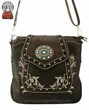 Montana West Concealed Carry Crossbody Purse Western Gun Bag Concealment Brown