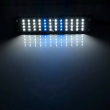 UK/EU 48LED White & Blue Light Aquarium Fish Plant 2 Mode Clip Bulb Lamp AdjusWS