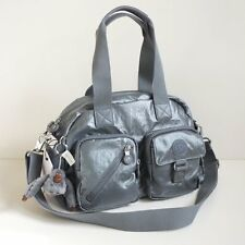 NWT Kipling Defea Crossbody Satchel Handbag Steel Grey