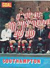 SOUTHAMPTON 1971-1972 RARE ORIGINAL HAND SIGNED TEAM GROUP X 6 SIGNATURES