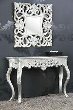 Spiegel + Konsole SET Antik SILBER Luxuriös prunkvoll Barock Rokoko SPECCHIERA