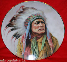 """Pride of the Cheyenne"" 1991 Indian Artaffects Plate"