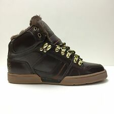 OSIRIS SHOES NYC 83 SHEARLING BROWN GOLD GUM TRAINERS (UK 7 EUR 40.5)