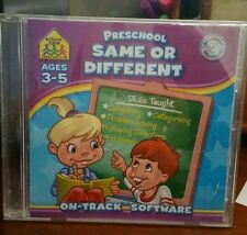 Preschool Same or Different Ages 3-5 PC GAME - FREE POST