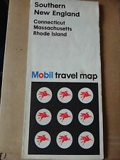 1969 Mobil Tourguide Street Map of Southern New England Conn Mass Rhode Island