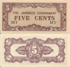 Malaya P-M2a/b, 5 Cents, WWII JIM issue - MT & M/AB series your choice UNC