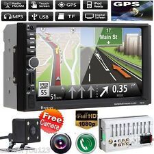 Camera+2Din HD Car Stereo MP5 Player GPS Navi Bluetooth USB/TF/FM Touch Radio