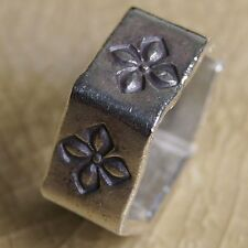 Hexagon Karen Hill Tribe New Ring Pure Silver Size. US=7 UK = N