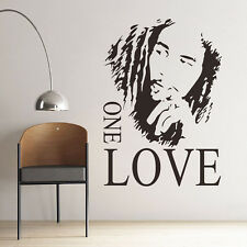 BOB MARLEY One Love Mural Removable Decal Room Wall Sticker Vinyl Art Decor New