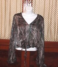 YSL Yves Saint Laurent Women's 100% Silk  Blouse Size 36 EUR