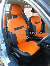i - TO FIT A FORD MONDEO CAR, SEAT COVERS, PVC LEATHER, ORANGE/ black 59.99