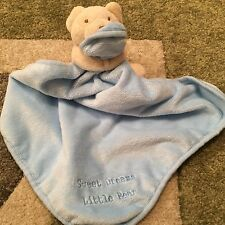 BNWOT Sainsburys TU Sweet Dreams Little Bear Blue Baby Comforter
