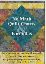 No Math Quilt Charts & Formulas - small & simple reference booklet