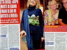 SP93 Clipping-Ritaglio 2012 Loretta Goggi Dopo la morte di Gianni..