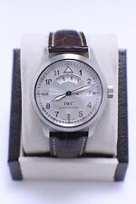 IWC PILOT SPITFIRE MENS WATCH REF IW 3251 STAINLESS STEEL  LEATHER STRAP
