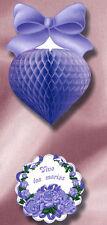 Coeur à suspendre lavande et vive les mariés decoration mariage Cérémonie noces