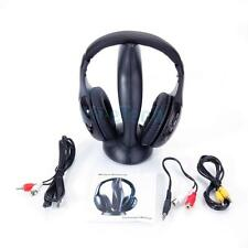 8 in 1 Wireless Headphone Earphone Cordless Headset Mic FM Radio for TV PC iPod