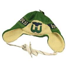 New NHL CCM Hartford Whalers Hat Green With Hockey Lace Tie Vintage Winter