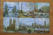 1960s LONDON COASTERS, vintage, retro, shabby chic