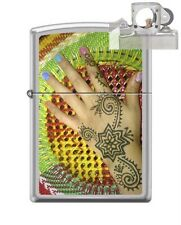 Zippo 205 Henna Print Rainbow Lighter with PIPE INSERT PL