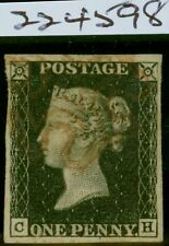 GB 1840 1d Penny Black SG2 (C-H) Pl 7 Fine Used 4 Margins Neat Red MX Royal Cert