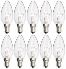 Philips 10x Light Bulb Candle-Shaped 40 W E14 Clear B35