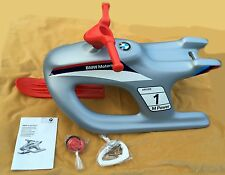 BMW Motorsport Ride on Steerable Kids Snow Racer Sledge & Pull Cord Genuine BMW