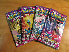 4x (Weighed) Pokemon PHANTOM FORCES Set Booster Card Pack Complete Art Box Set
