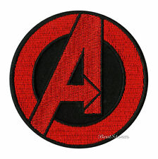 NEW Marvel Avengers Movie RED Circular Logo Embroidered  IRON ON Patch Badge