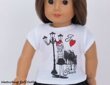 """J'adore Love Paris T Shirt Made for American Girl 18"""" Doll Clothes"""